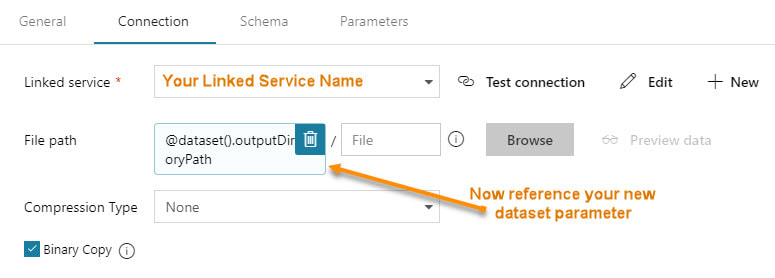Azure Data Factory v2 Parameter Passing